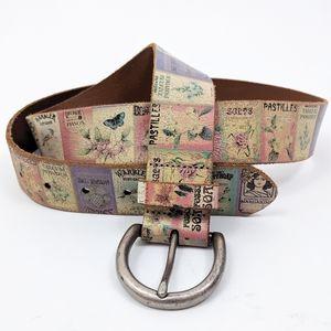 Fossil Vintage Soaps Distressed Leather Belt L